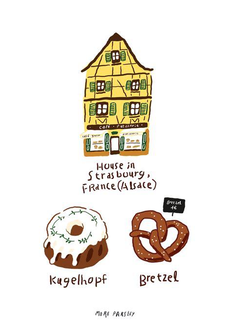 strasbourg alsace france illustration  moreparsley