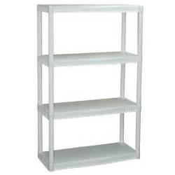 White Storage Cabinets Walmart by Plano 4 Shelf Storage Unit White Walmart Com