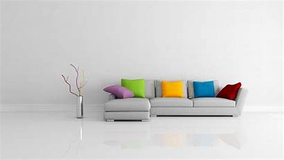 Interior Couch Simple Cushion Wallpapers Vases Multicolor