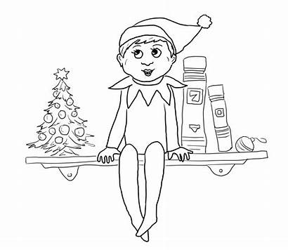 Elf Shelf Coloring Printable Pages Supercoloring Worksheets