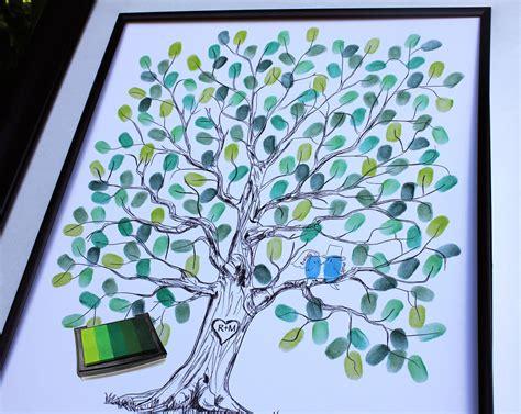 Thumb Print Wedding Tree Guestbook Alternatives Print