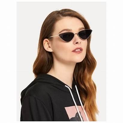 Cat Metal Eye Frame Sunglasses Lens Glasses