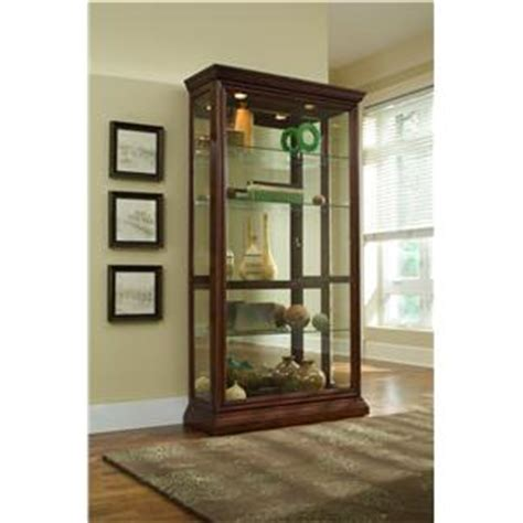 Pulaski Curio Cabinet 20485 by Pulaski Furniture Curios Golden Oak Iii Two Way Sliding