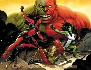 Red, She, Hulk, Wallpaper