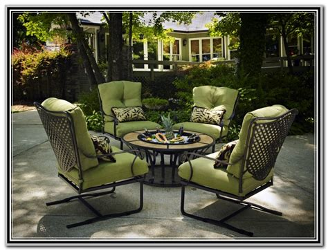 Back Patio Furniture by Black Wrought Iron Patio Furniture Sets Garden Patio