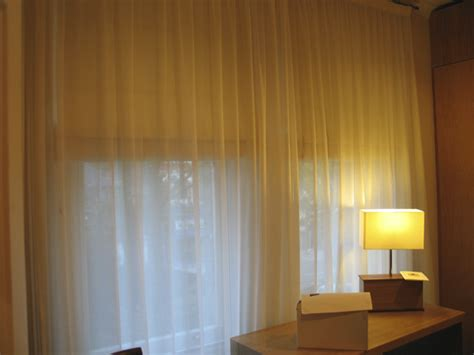 blackout blinds fitted voile curtains