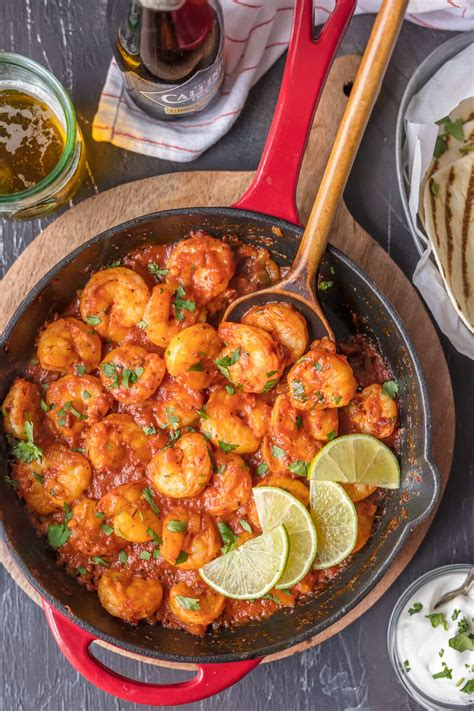 easy seafood recipes skillet chipotle shrimp the cookie rookie