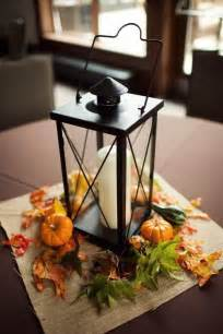 Fall Wedding Table Centerpieces with Lanterns