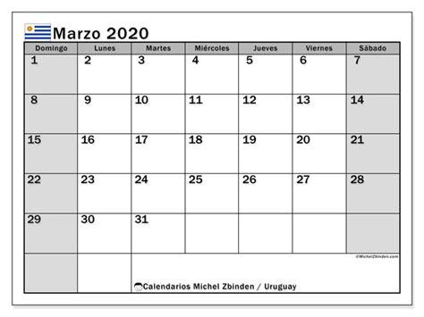 foto de Calendario marzo 2020 Uruguay Michel Zbinden ES