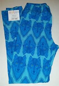 Lularoe Leggings OS One Size Blue Wolves Yoga Band Unicorn New #LuLaRoe | For the love of ...