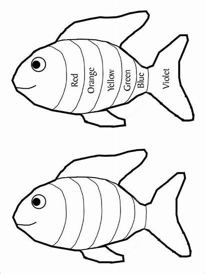 Fish Rainbow Template Templates Pdf Blank Pattern