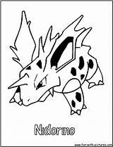 Coloring Pokemon Pages Poison Nidorino Colouring Printable Print sketch template
