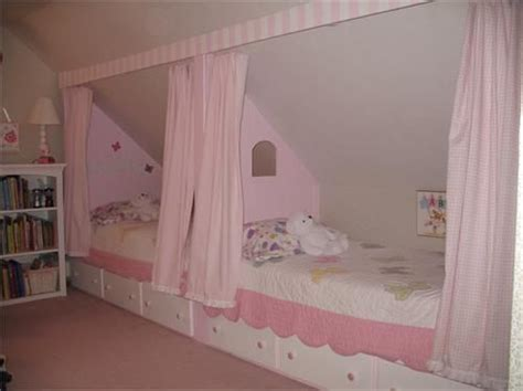 Ideas For Bedroom With Slanted Ceiling by One Idea For The Slant Boys Someday With Desks Flanking