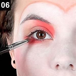 Karneval Gesicht Schminken : faschings schminktipp harlekina clown make up ~ Frokenaadalensverden.com Haus und Dekorationen