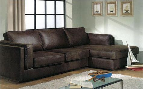 canape d angle cuir marron canapé d 39 angle aspect cuir marron
