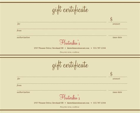 free printable photography gift certificate template best photos of gift certificate templates gift