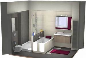 Logiciel 3d Salle De Bain : amenagement salle de bain 3d gratuit maison design ~ Dailycaller-alerts.com Idées de Décoration