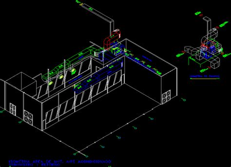 isometric system air conditioning dwg block  autocad