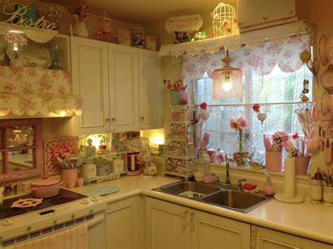 blue shabby chic kitchen my pink shabby chic kitchen pink and blue kitchens pinterest chic shabby chic and love