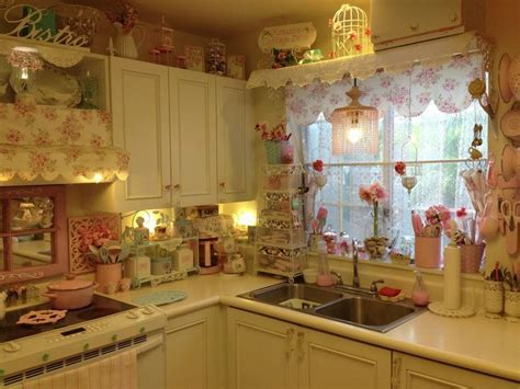 My Pink Shabby Chic Kitchen   Pink and blue kitchens