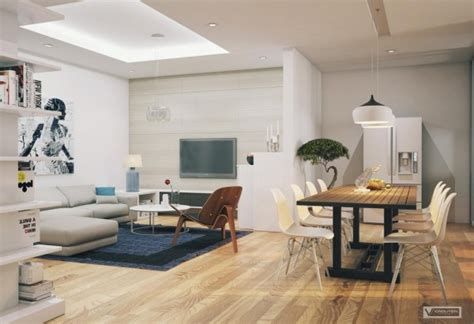 apartment with artistic flair visualized