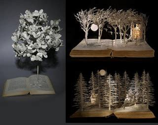 mighty lists  beautiful book sculptures