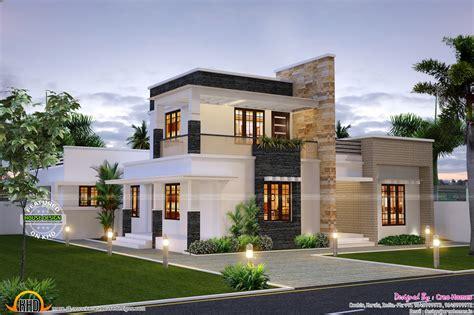 cute contemporary home kerala home design  floor plans