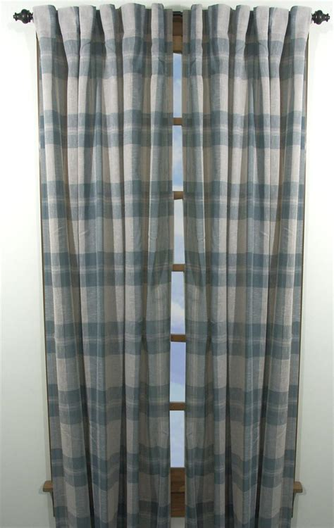 Plaid Drapery Panels by Shannon Plaid Curtain Panels