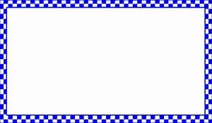 Blue Checkered Border Clip Art at Clker.com - vector clip ...
