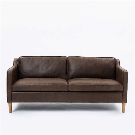 west elm hamilton leather sofa hamilton leather sofa 68 quot west elm