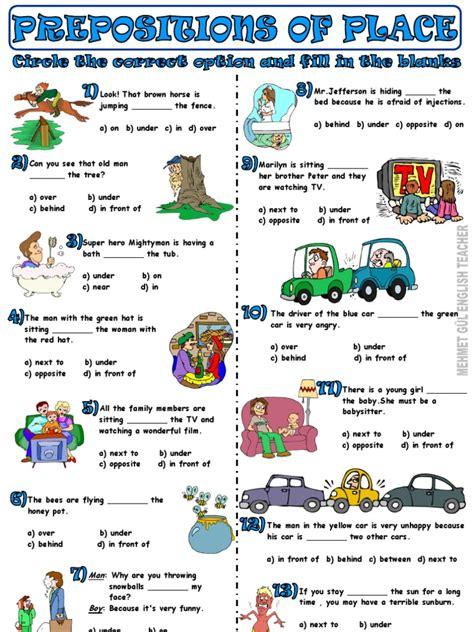 4 Ficha De Trabalho  Prepositions Of Place (2