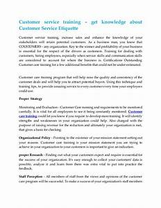customer service training get knowledge about customer With courtesy skills training document