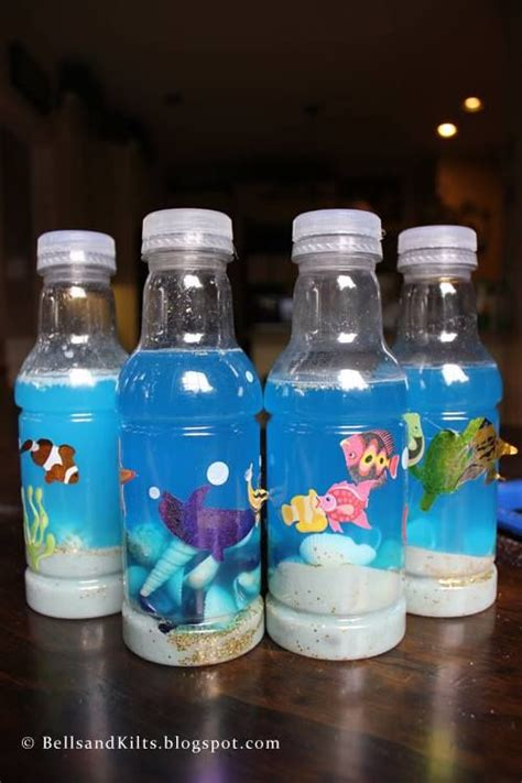 sea sensory bottle parsha fische basteln