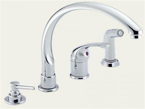 kitchen faucet size delta single handle kitchen faucet with spray delta dst