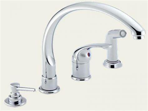 kitchen faucet handle delta single handle kitchen faucet with spray delta dst