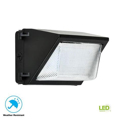 52 watt black outdoor integrated led rectangular wall