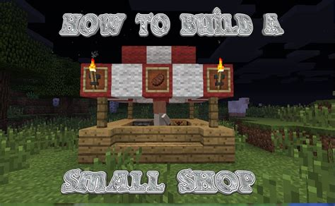Minecraft  How To Build A Small Shop Youtube