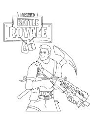 rifle scar fortnite coloring page  printable