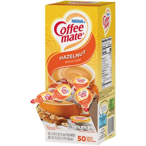 For a complete list of ingredients and allergens, see the nutritional value tab. Coffee Mate Hazelnut Liquid Coffee Creamer Singles ...
