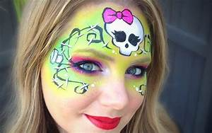 Monster High Makeup / Face Painting Tutorial - Frankie ...