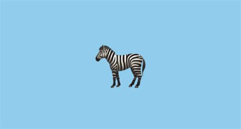 zebra face emoji
