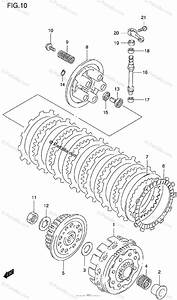 Suzuki Motorcycle 1996 Oem Parts Diagram For Clutch  Model