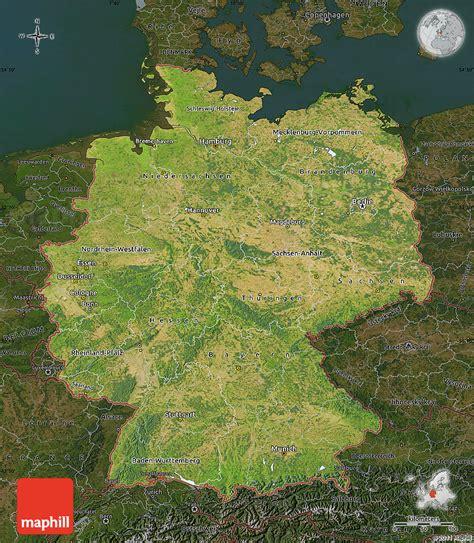 deutschland satelliten karte