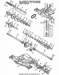Poulan Xc1120b Tractor Parts Diagram For Transaxle Foote