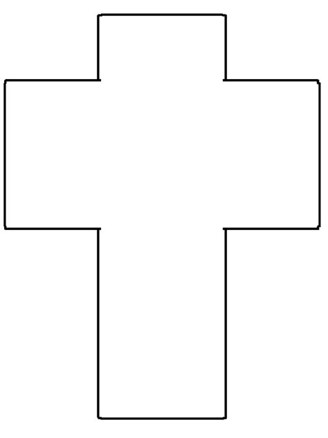 printable cross simple shapes coloring pages
