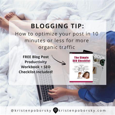 Seo Basics How Optimize Your Blog Post Minutes