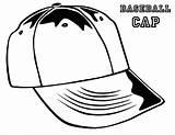 Coloring Hat Baseball Template Sun sketch template