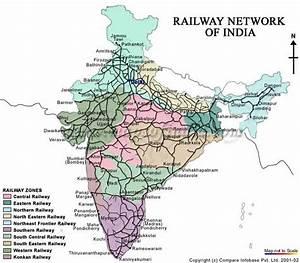 Railway Map Indian Railway Map