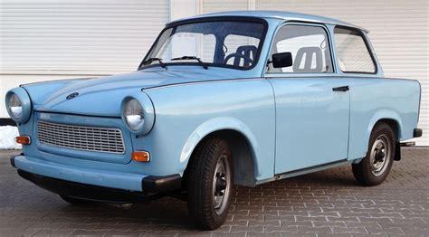 Trabant 601, gletscherblau, Frontansicht   Erlebnis Trabant