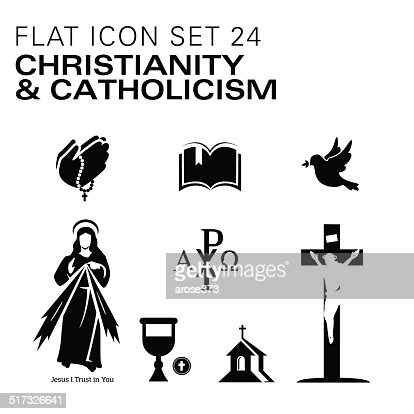 Flat24christianity And Catholic Religious High Res Vector